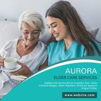 elder care services advertisement instagram p template
