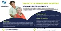 elderly care services Facebook Image template