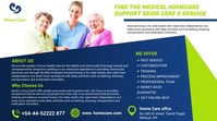 elderly care services flyers template