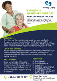 elderly care services flyers A4 template