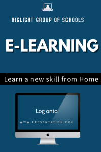 elearning Poster template