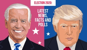 Election 2020 news facts and polls blog hero template