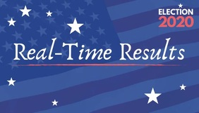 Election 2020 real time results video Blog Header template
