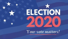 Election 2020 vote campaign blog header template