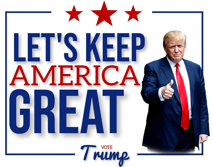 ELECTION 2020 VOTE TRUMP POSTER DESIGN Poster/Wallboard template
