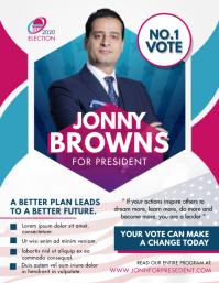 Election Campaign Advertisement Folder (US Letter) template