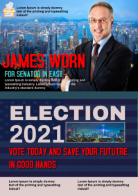 Election campaign A4 template