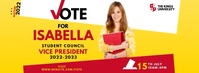 Election Campaign Facebook Cover Photo template