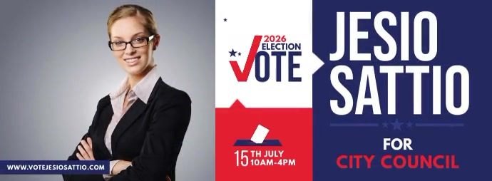 Election Campaign Facebook Cover template