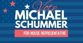 Election campaign facebook template
