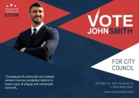 Election Campaign PostCard template
