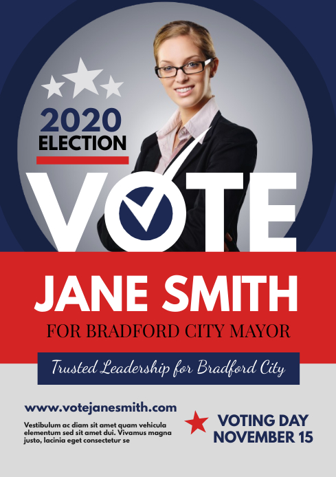 election campaign flyer template postermywall