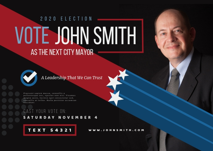 Election Campaign Postcard Poskaart template