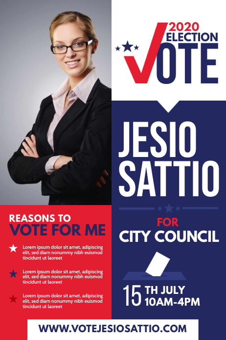 Election Campaign Poster