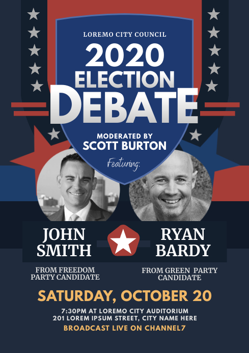 Election Debate Flyer
