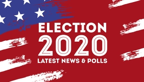 Elections 2020 blog header us president color template