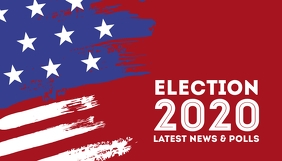 Elections 2020 blog header us president color 博客标题 template
