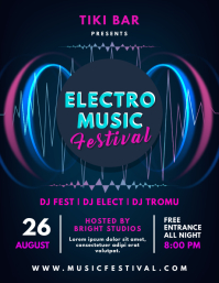 Electonic Music Concert Poster Design