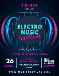 Electonic Music Concert Poster Design