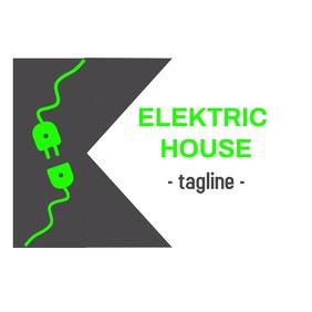 Electric logo Logotyp template