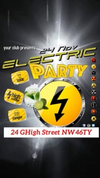 Electric Party Instagram Template Pantalla Digital (9:16)