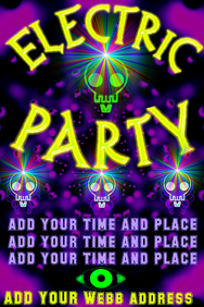 Electric party - with skulls and lights