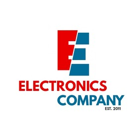 electric red and blue logo