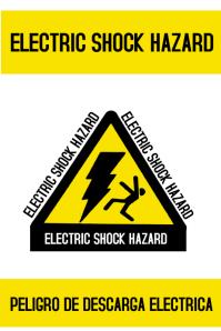 ELECTRIC SHOCK HAZARD Poster template