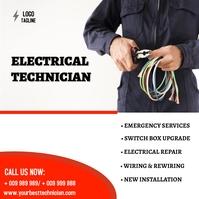 Electrical Publicación de Instagram template