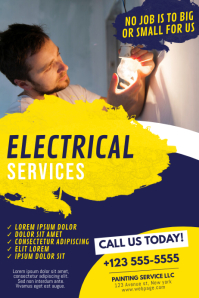 Customizable Design Templates For Electrician Flyer