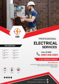 Electrical service A4 template