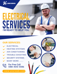 Electrical Service Flyer Poster Temp template