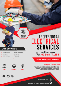 electrical service flyer template A3