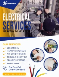 Electrical Service Video Poster Temp Folheto (US Letter) template