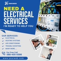 Electrical Services Instagram Post template