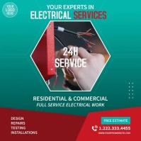 Electrical Services Video Ad Quadrato (1:1) template