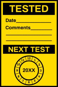Electrical Sheet Test Board Template