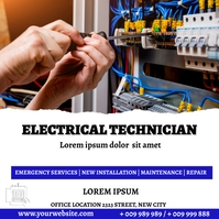 Electrical tech Pos Instagram template