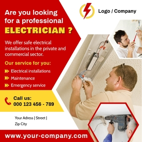 ELECTRICIAN Flyer Instagram