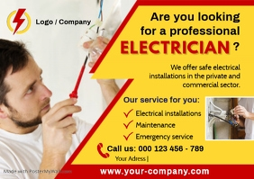 ELECTRICIAN Flyer Template A4