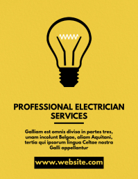 electrician services flyer advertisement 传单(美国信函) template