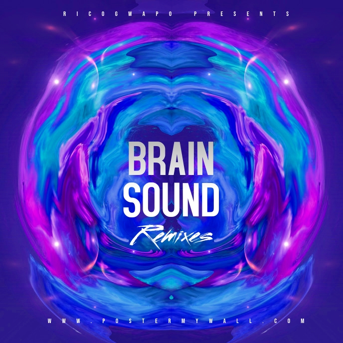 Electro Brain Sounds Album Cover Artwork template