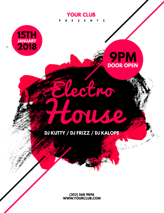 Copy Of Electro House Flyer Template Postermywall
