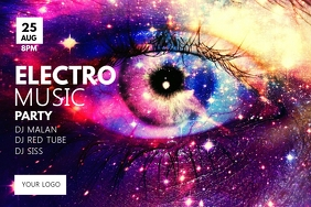 Electro Music Party Stars Night Galaxy Spirit