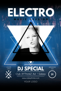 Electro Music Party Triangle Event Club Night