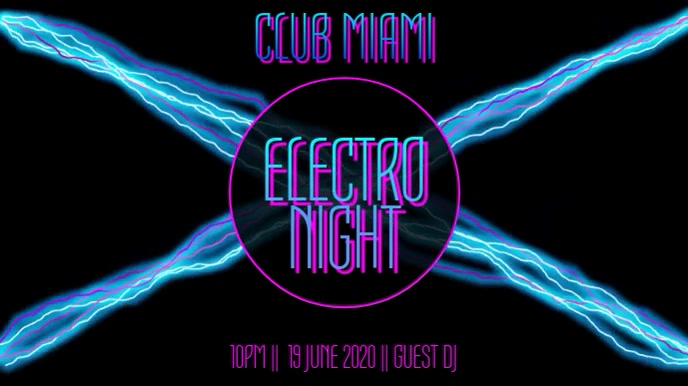 Electro Night Club Instagram Post Template