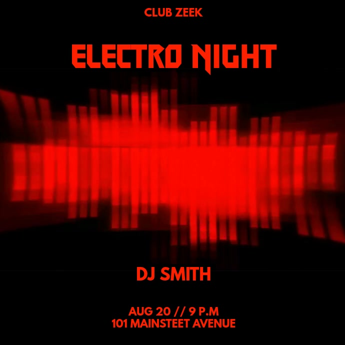 ELECTRO NIGHT VIDEO TEMPLATE