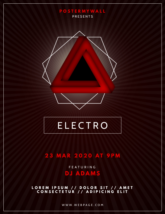 Electro Party Club Flyer Template
