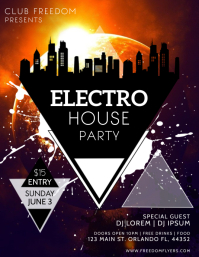 Electro Party Flyer Template Design