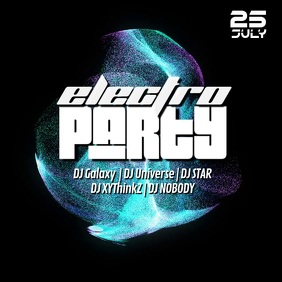 Electro Party Sound Electronic Music Techno Goa Abstract